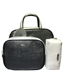 Silver Glitter Purse Set, 3-Piece product photo