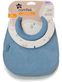 Tommee Tippee Cotton Milk Feeding Bib, 2-Pack, Vanilla/Dragonfly product photo