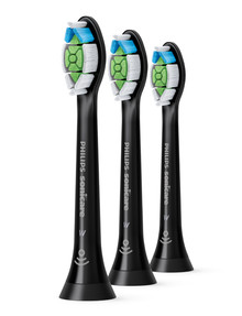 Philips Sonicare Optimal Standard Brush Head 3-Pack, HX6063/96, Black product photo