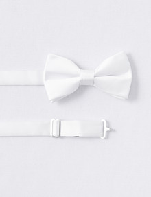 Laidlaw + Leeds Bow Tie, White product photo