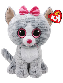 Ty Beanies Boo Kiki Grey Cat Soft Toy, Large product photo
