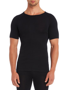 Superfit Short-Sleeve Thermal Top, Black product photo