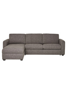 Luca Dalton 2.5 Seater Sofa Bed with Left Hand Chaise, Pewter product photo