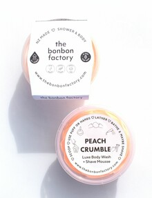 The Bonbon Factory Peach Crumble Whipped Body Wash and Scrub, 200ml product photo