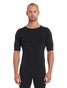 Superfit Short-Sleeve Superfine Crew Neck Top, Black product photo