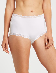 Lyric Microfibre & Lace Full. Brief, White product photo