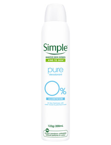 Simple Pure Deodorant Aerosol, 200ml product photo