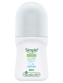 Simple Pure Roll On Deodorant, 50ml product photo