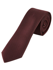 Laidlaw + Leeds Tie, Plain Texture, 5cm, Burgundy product photo