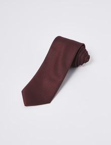 Laidlaw + Leeds Tie, Plain Texture, 7cm, Burgundy product photo