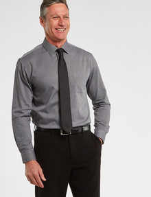 Chisel Formal Long-Sleeve Classic Fit Texture Shirt, Black product photo