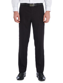 Chisel Flat Front Herringbone Pant, Classic Fit, Black product photo