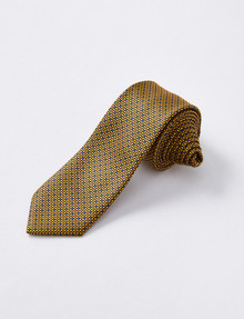 Laidlaw + Leeds Tie, Fashion Texture, 7cm, Yellow product photo