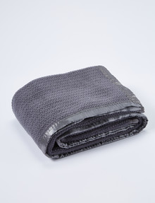 Teeny Weeny Wool Thermacell Cot Blanket, Charcoal product photo