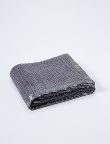 Teeny Weeny Wool Thermacell Bassinet Blanket, Charcoal product photo