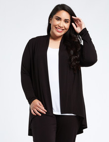 Bodycode Curve Long-Sleeve Swing Cardigan, Black product photo