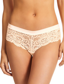 Perfects Be Real Lace Cheeky Bikini Brief, Shell product photo