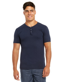 Mitch Dowd Henley Sleep Tee, Navy product photo
