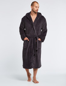 Chisel Fleece Carved Chevron Hooded Robe product photo