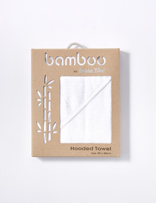 Bubba Blue Bamboo Hooded Towel, White product photo