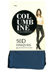 Columbine 50 Denier Opaques Tight, Blue-Grey product photo