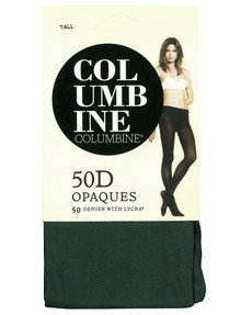 Columbine 50 Denier Opaques Tight, Pine product photo