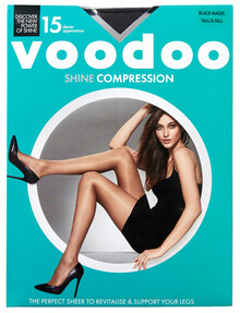 Voodoo Shine Compression Sheers, 15D, Black Magic product photo