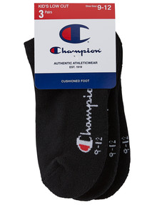 Champion Low-Cut Sock, 3-Pack, Black product photo