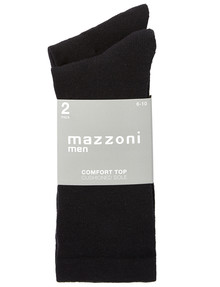 Mazzoni Comfort Top Cushioned Sole Sock, 2-Pack, Black product photo
