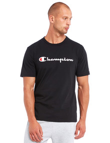Champion Script Short-Sleeve Tee, Black product photo