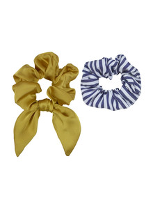 Mae Elastics, Scrunchies, Mustard & Stripes product photo
