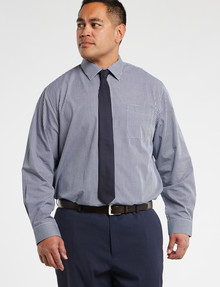 Chisel Formal King Long-Sleeve Mini Check Shirt, Navy product photo