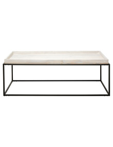 LUCA Boden Coffee Table, White & Grey product photo