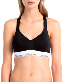 Calvin Klein Modern Cotton Lightly Lined Bralette, Black product photo