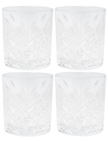Salt&Pepper Winston DOF Tumbler Glass, Set-of-4, 355ml product photo