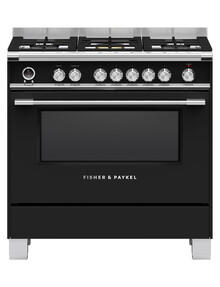 Fisher & Paykel 90cm Gas Cooktop Oven, Black, OR90SCG6B1 product photo