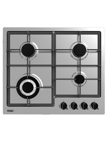 Haier 4 Burner Gas Cooktop, Stainless Steel, HCG604WFCX2 product photo