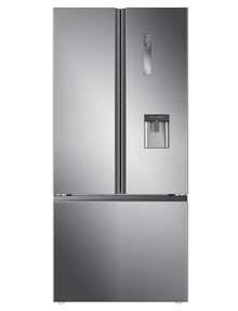 Haier 514L French Door Fridge Freezer, Satina, HRF520FHS product photo