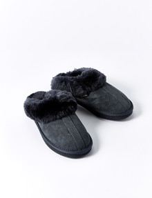 Mi Woollies Te Anau Scuff Slipper, Charcoal product photo