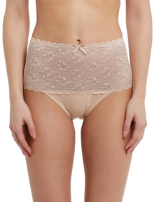Lyric Cotton & Lace Top Full Brief, Nude product photo