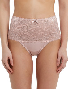 Lyric Cotton & Lace Top Full Brief, Dusty Pink product photo