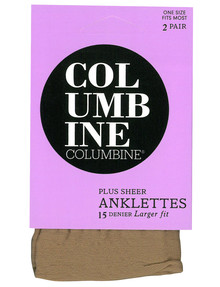 Columbine Plus Anklet, 15D, 2-Pack, Blush product photo