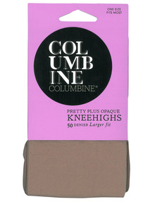 Columbine Plus Knee-High Opaque Tight, 50D, Mocha product photo
