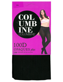 Columbine Plus Opaque Tight, 100D, Black product photo