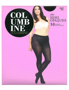Columbine Plus Semi Opaque Tight, 30D, Black product photo