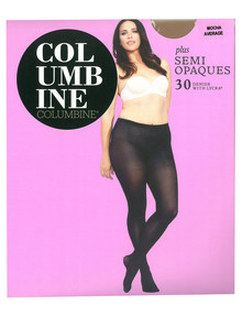 Columbine Plus Semi Opaque Tight, 30D, Mocha product photo