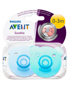 Avent Bear Soothie 0-3M, 2pk, Assorted product photo
