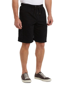 Chisel Elastic Waist Cargo Short, Black product photo