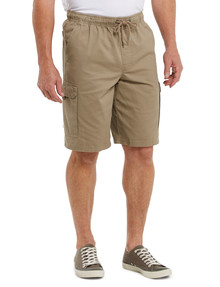 Chisel Elastic Waist Cargo Short, Tan product photo
