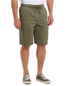 Chisel Elastic Waist Cargo Short, Khaki product photo